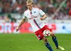 Rudņeva pirmie vārti sezonā nodrošina Hamburgas uzvaru derbijā