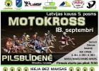 Pilsblīdenē norisināsies pirmspēdējais Latvijas kausa posms motokrosā solo klasēm