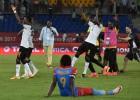 Gana un Ēģipte izcīna minimālas uzvaras, iekļūstot pusfinālā