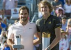 """Zverevs pārtrauc Federera 16 uzvaru sēriju, izcīna otro """"Masters"""" titulu"""