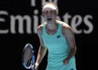 """Mertensa sakauj Svitoļinu un sasniedz pirmo """"Grand Slam"""" pusfinālu"""