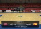 Video: Latvija U19 - Spānija U19  Pārbaudes spēle telpu futbolā. Spēles ieraksts