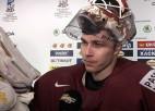 """Video: Merzļikins: """"Žēl par pirmo golu - ka viņiem tā nolaimējās"""""""