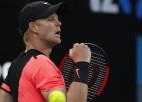 """Edmundam pirmais """"Grand Slam"""" ceturtdaļfināls, Dimitrovs izslēdz Kirjosu"""