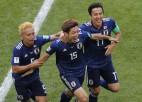 Japāna teju visu spēli aizvada vairākumā un pieveic Kolumbiju