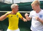 Mājinieku pēdējā cerība Edmunds pēc lielā futbola sacentīsies ar Džokoviču