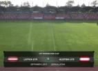 Video: Federācijas kauss futbolā U19 izlasēm: Latvija - Austrija. Spēles ieraksts