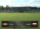 Video: UEFA U21 kvalifikācija futbolā: Latvija - Polija. Spēles ieraksts