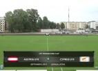 Video: Federācijas kauss futbolā U19 izlasēm: Austrija - Kipra. Spēles ieraksts