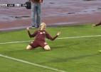 Video: Latvija sieviešu futbola izlasei minimāls zaudējums pret Slovākiju