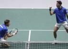 Francija ar lielām grūtībām uzvar bez Nišikori spēlējošo Japānu