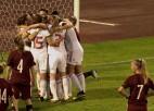 Video: Latvijas sieviešu futbola izlasei vēl viens smags zaudējums EČ kvalifikācijā