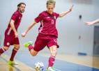 Latvijas telpu futbolistiem sāpīgs zaudējums pret Slovēniju