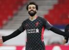 """""""Liverpool"""" iesit divreiz piecu minūšu laikā, sperot platu soli pretim 1/4 finālam"""