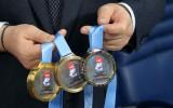 Foto: Maskavā prezentē pasaules čempionāta medaļas