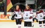 Foto: Latvijas izlase zaudē Vācijai un netiek uz olimpiskajām spēlēm