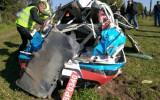 Foto: Lietuviešu ekipāža piedzīvo smagu avāriju un iznīcina automašīnu
