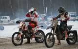 Foto: Jānis Vinters uzvar ziemas motokrosā Zorģos