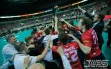 """Foto: """"Lielvārde"""" fantastiskā cīņā pieveic """"Mogo-RTU/Rockets"""" un kļūst par čempioni"""