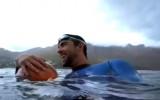 Video: Leģendārais Felpss sacenšas ar balto haizivi