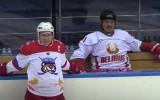 Video: Putina un Lukašenko komanda grauj, prezidenti kopā iemet astoņas ripas