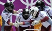 Foto: Latvieši Sočos: kalnu slēpotāji beidz spēles, bobslejisti - tēmē augstu