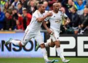 """""""Swansea"""" sagādā """"Manchester United"""" pirmo zaudējumu sezonā"""