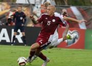 Latvijas futbola izlase izkritusi no FIFA ranga simtnieka