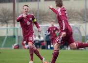 Latvijas U-19 izlase Liepājā pieveic Norvēģiju
