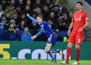 """Vārdija supervārti ļauj """"Leicester City"""" saglabāt vadību Premjerlīgā"""