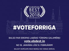 """Rīga nominēta titulam """"Eiropas labākais tūrisma galamērķis"""" 2018.gadā"""