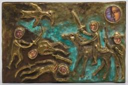 """No 7. oktobra atvērta Lilijas Dineres un Roberta Dinera izstāde """"Dievi un varoņi, atspulgi un ēnas"""""""