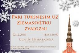"""Pirmās Adventes koncerts """"Pāri tuksnesim uz Ziemassvētku zvaigzni"""" Rīgas Sv. Pētera baznīcā"""