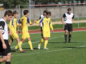 1. līga: ''Metta/LU'' un RFS spēlē neizšķirti, ''Ventspils-2'' iesit 13 <i>golus</i>