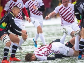 Latvijas regbija izlasei nedaudz pietrūkst Šauļos