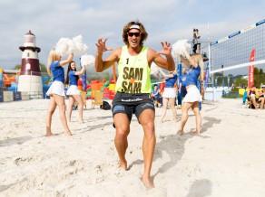 Ar brāļu Samoilovu un Šmēdiņu derbiju atklāta Lido volejbola pludmale
