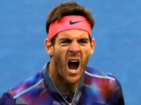 Tīms neizservē maču, Del Potro atspēlē 2 mačbumbas un tiek līdz Federeram