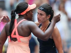 """Sevastova nenosargā pārsvaru un sāpīgi zaudē """"US Open"""" ceturtdaļfinālā"""