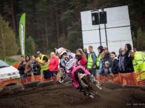 Stecjuka izcīna uzvaru Latvijas motokrosa čempionātā
