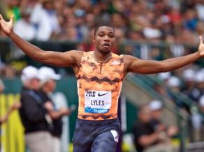 ASV sprinteris Lailss atkārto šīs sezonas labāko rezultātu 200 metros