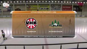 """LČ 1.līga hokejā: """"Valmieras HK"""" - HK """"Tukums/Stiga RM"""". Spēles ieraksts"""