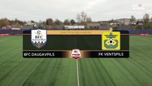 Video: SynotTip futbola virslīga: BFC Daugavpils - FK Ventspils. Spēles ieraksts