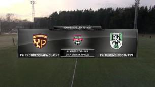 Video: Komanda.lv 1.līga futbolā: FK Progress/AFA Olaine - FK Tukums 2000/TSS. Spēles ieraksts.
