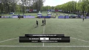 Video: Baltijas kauss minifutbolā 2017: EL DORADO - AMOKO. Spēles ieraksts