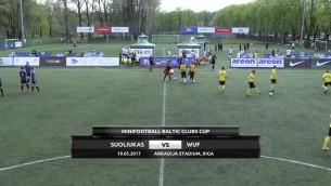Video: Baltijas kauss minifutbolā 2017: SUOLIUKAS - WUF. Spēles ieraksts