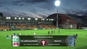Video: Latvijas kauss futbolā: FK Liepāja/Mogo - Riga FC. Spēles ieraksts