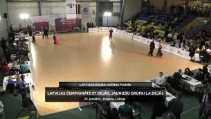 Video: Latvijas čempionāts ST dejās, jauniešu grupai LA dejās. Sacensību ieraksts