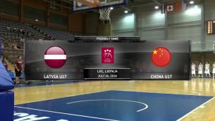 Video: Latvijas U17 - Ķīnas U17, spēles ieraksts