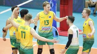 Brazīlija piecos setos uzvar Franciju, Austrālija pārsteidzoši atņem punktu ASV