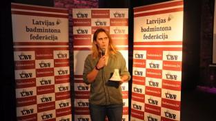 Podosinoviks un Radovska atkal nosaukti par Latvijas labākajiem badmintonistiem